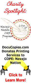 Charity spotlight - DocuCopies.com Donates $1,000 in Printing Services to the COPE Project: Navajo Nation