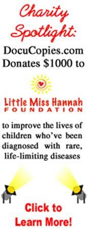 Charity spotlight - DocuCopies.com Donates $1,000 to the Little Miss Hannah Foundation