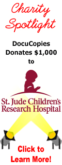 Charity spotlight - DocuCopies.com Donates $1,000 to St. Jude Children's Research Hospital